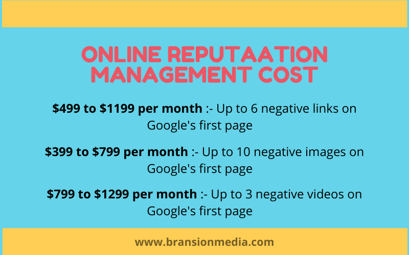 online reputation management cost